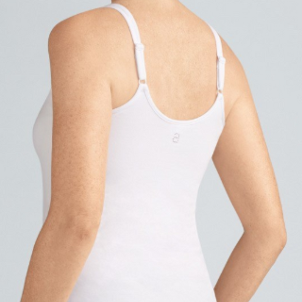 Amoena Valletta Pocketed Singlet/Cami - White 70230