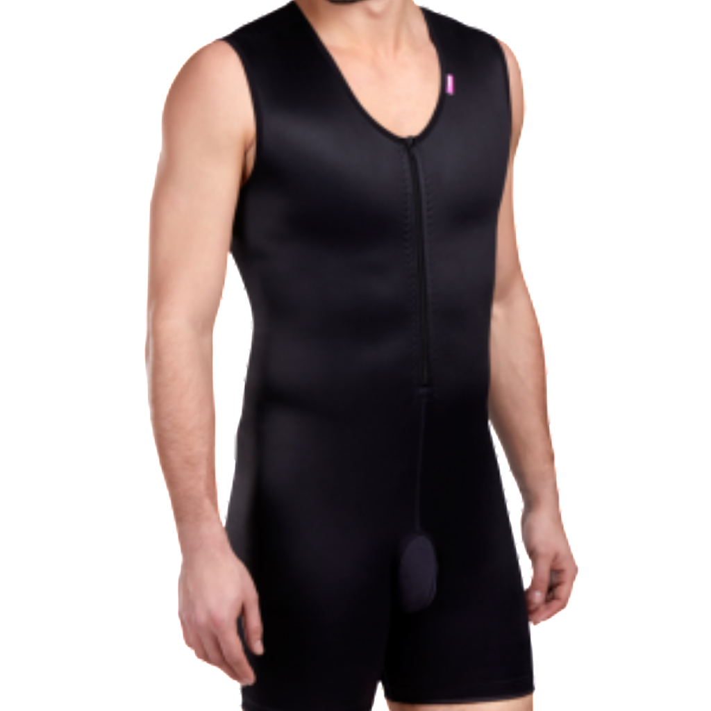 Lipoelastic MGm Comfort MALE Post Surgical Compression Garment - Black
