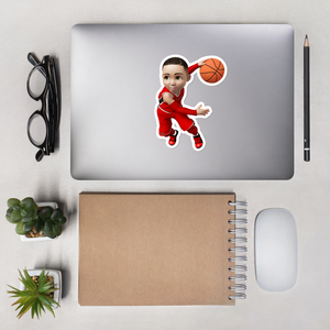 Basketball Bubble-free stickers