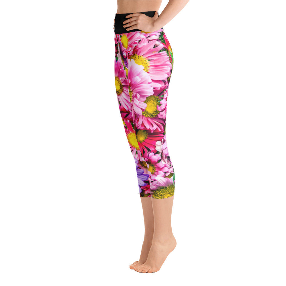 Flower Yoga Capri Leggings