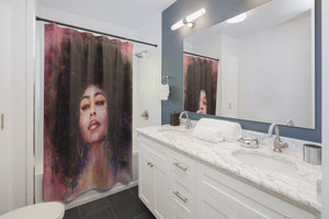 Soulful Seductive Afro Woman | High Quality Shower Curtain