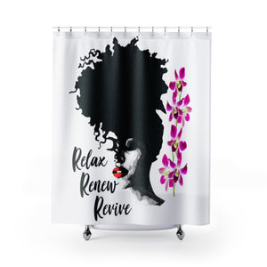 Relax Renew Revive | High Quality Shower Curtain