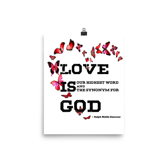 Love Is God | High Quality Poster