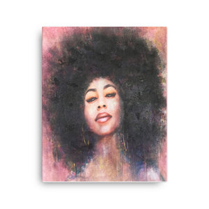Seductive Soulful Afro Woman | High Quality Canvas Gallery Wrap