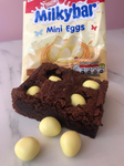 White Chocolate Mini Egg Homemade Brownies