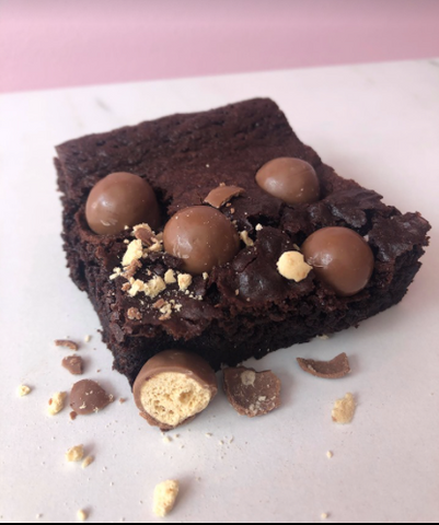Homemade Malteaser Brownie