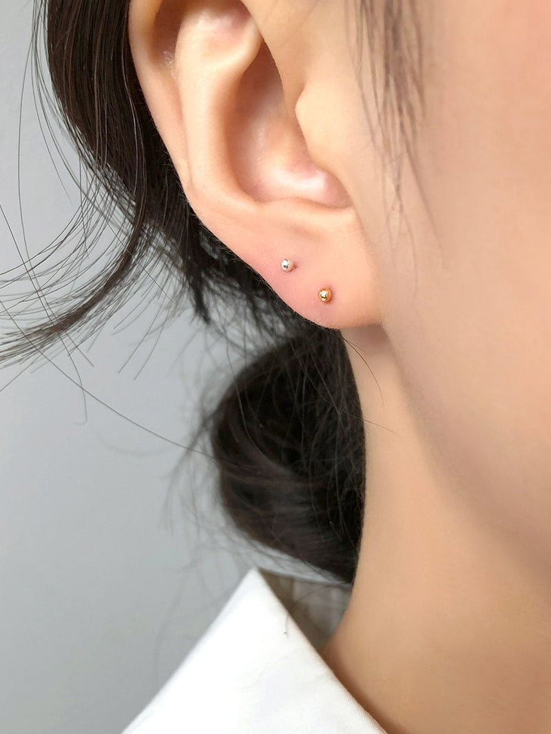 2MM BALL STUD EARRINGS