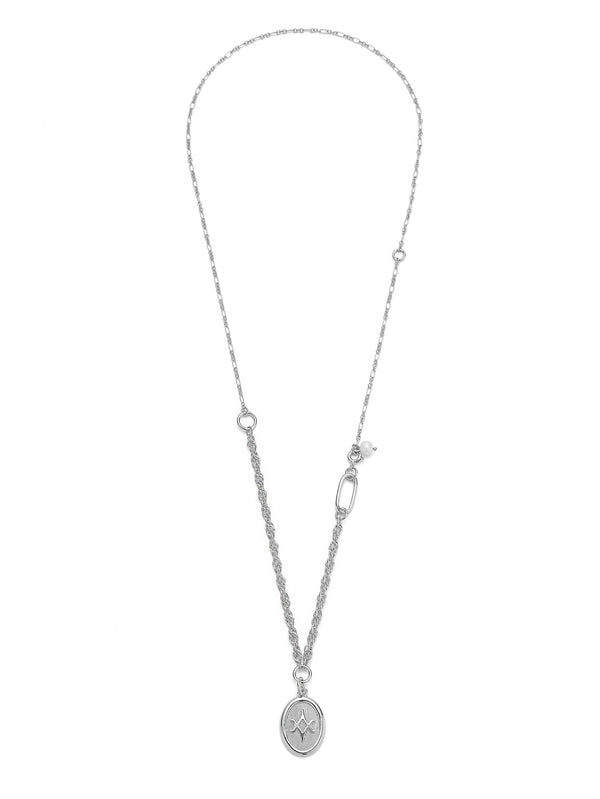 PEARL & PENDANT SILVER NECKLACE