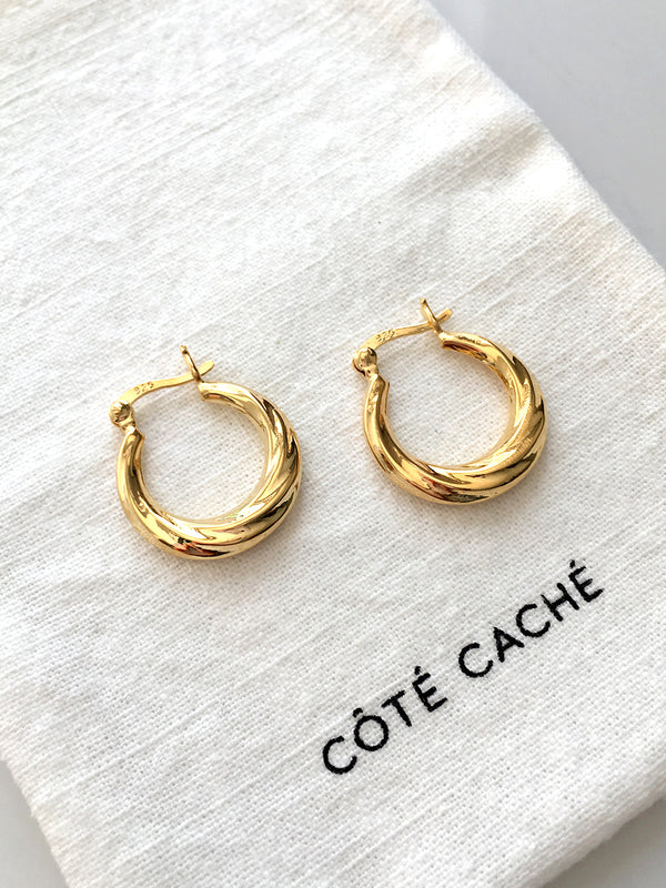 GOLD RIVER HOOP EARRINGS