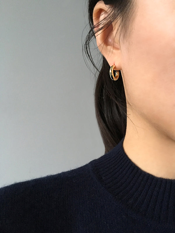 CLASSIC OPEN CURVE EARRINGS (Small)