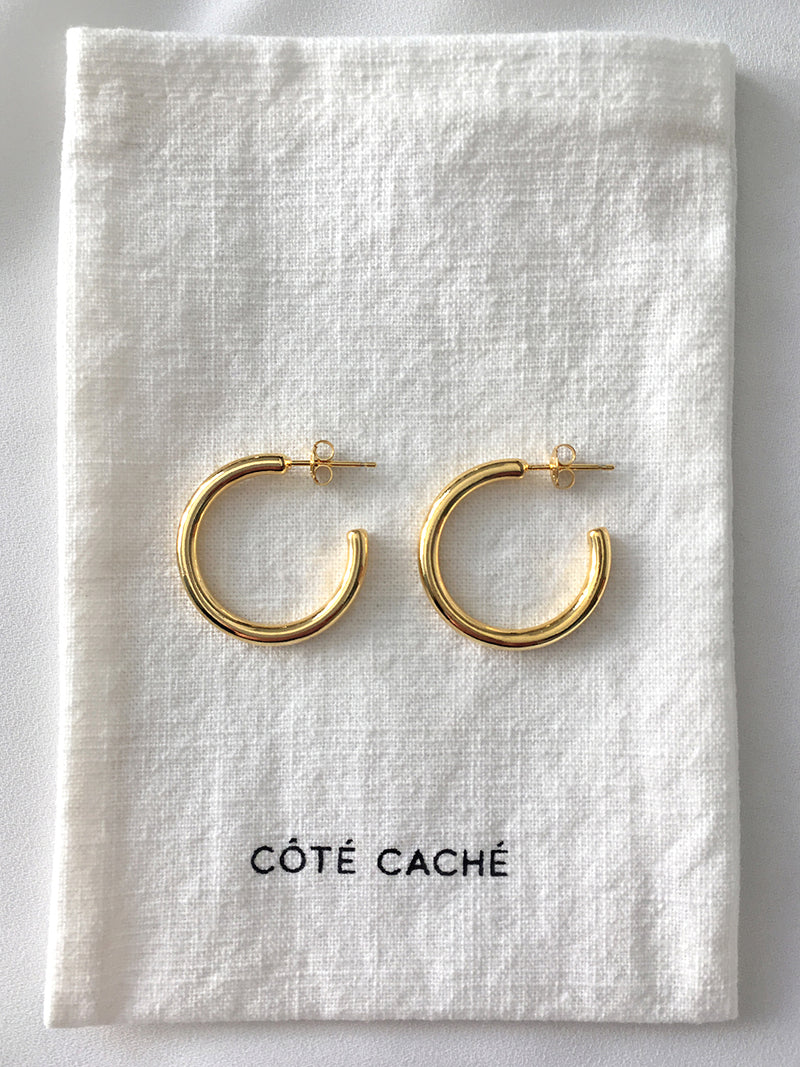 GOLD CLASSIC OPEN HOOP EARRINGS