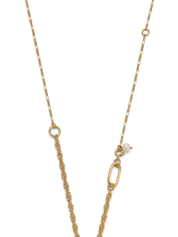 PEARL & PENDANT GOLD NECKLACE
