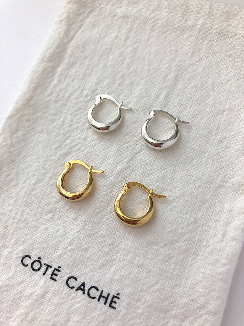 Mini Creole Hoop Earrings