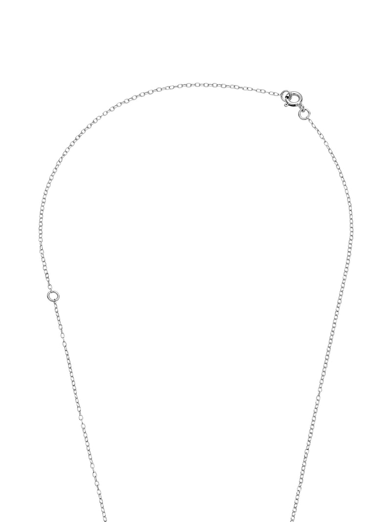 PURE PEARL PENDANT SILVER NECKLACE
