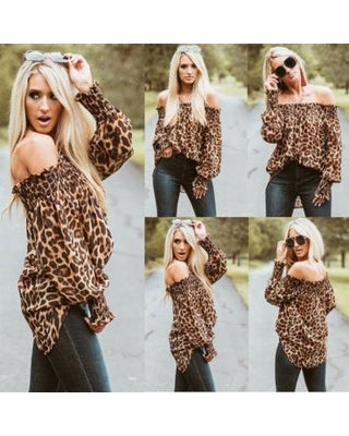 Summer Casual Women Leopard Tops