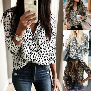 Chiffon Ladies Leopard Tops