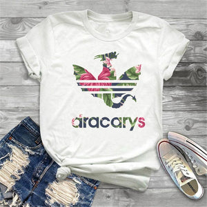 Dragon Print Female T Shirt