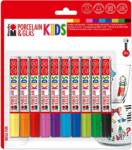 Marabu: Kids Porcelain & Glas-Painter 10er-Set