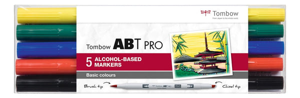 Tombow: ABT- Pro 5er-Set Basic Colors