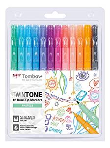 Tombow: Twin Tone 12er-Set pastell