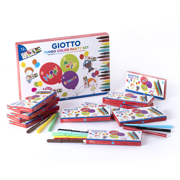Giotto: Party Set 12x Turbo Color Filzstifte