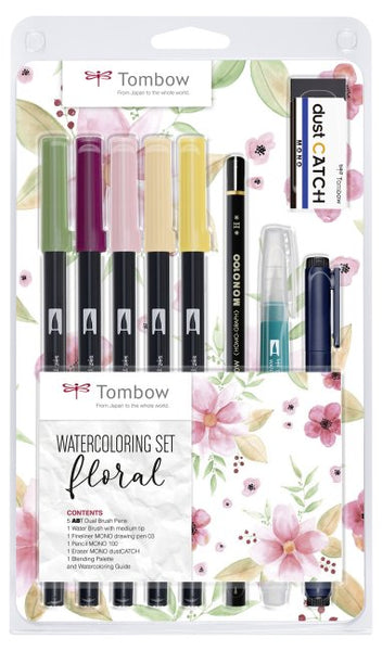 Tombow: Watercoloring-Set floral