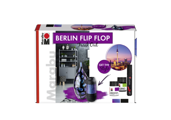 "Marabu: Berlin Flip-Flop Set ""Freak-Out"""