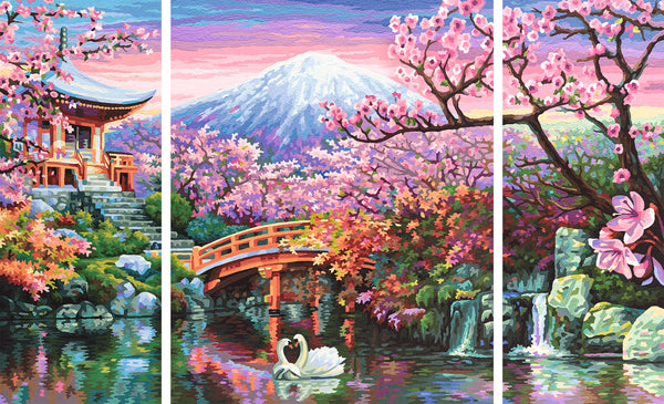 Schipper: Kirschblüte in Japan - Triptychon