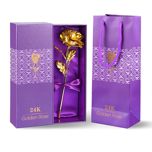 24k Gold Rose With Free Gift Box