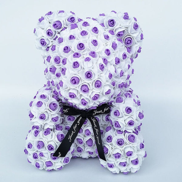 Purple Rose Bear (New Style)