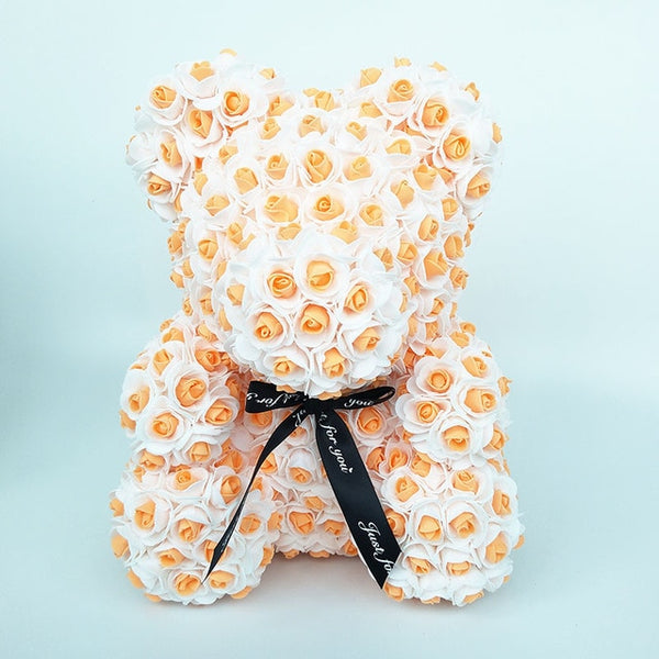 Orange Rose Bear (New Style)