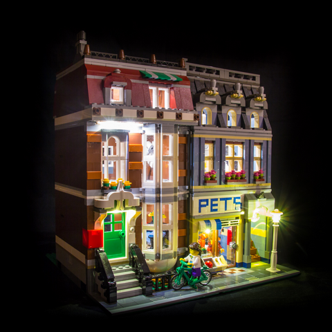 10218 - Pet Shop Lighting Kit - LEGO  Lighting Kit - Elegant Bricks