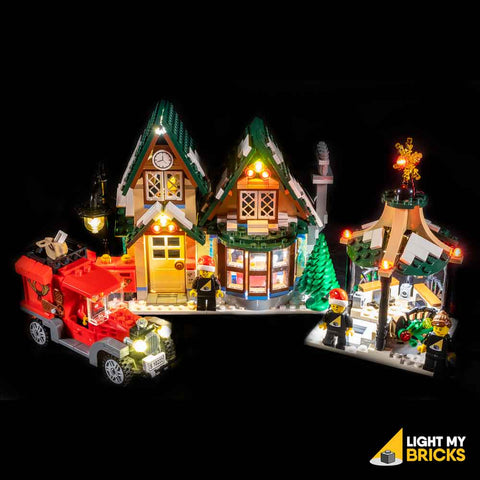 10222 - The Winter Village Post Office Lighting Kit - LEGO  Lighting Kit - Elegant Bricks