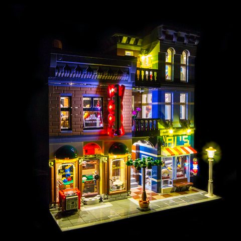 10246 - Detective's Office Lighting Kit - LEGO  Lighting Kit - Elegant Bricks