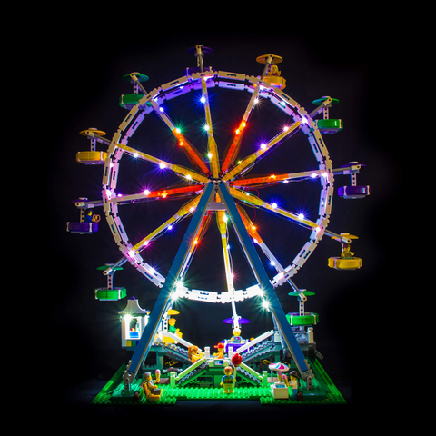 10247 - Ferris Wheel Lighting Kit - LEGO  Lighting Kit - Elegant Bricks