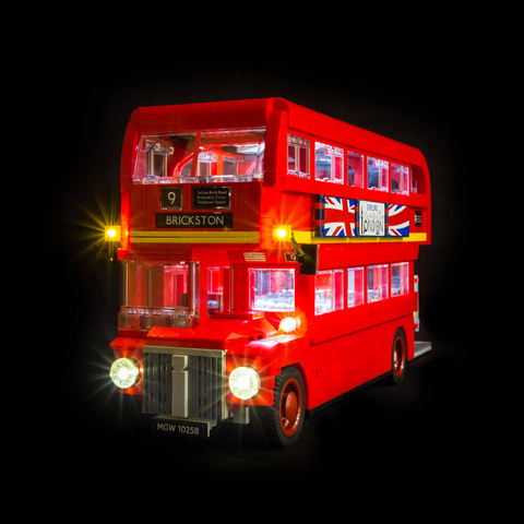 10258 - London Bus Lighting Kit - LEGO  Lighting Kit - Elegant Bricks