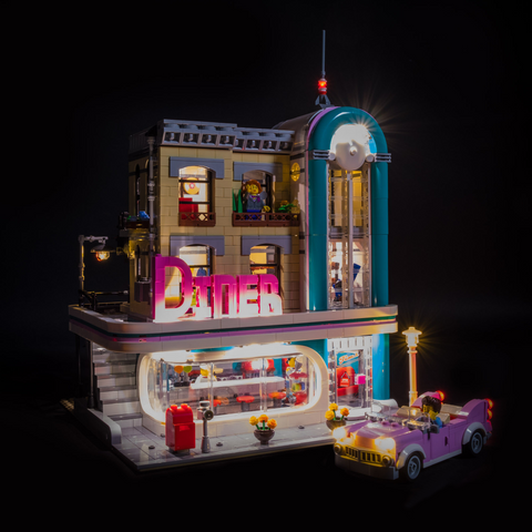 10260 - Downtown Diner Lighting Kit - LEGO  Lighting Kit - Elegant Bricks