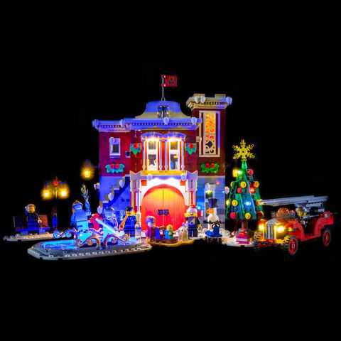 10263 - Winter Village Fire Station Lighting Kit - LEGO  Lighting Kit - Elegant Bricks