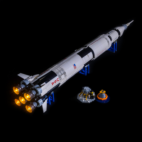 21309 - NASA Apollo Saturn V - Main Booster Only - LEGO  Lighting Kit - Elegant Bricks