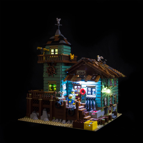 21310 - Old Fishing Store Lighting Kit - LEGO  Lighting Kit - Elegant Bricks