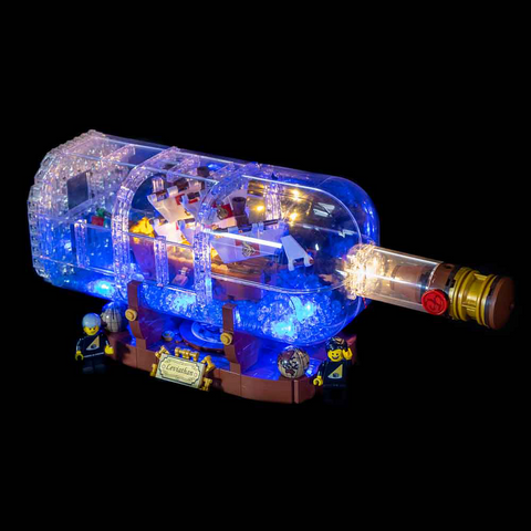 21313 - Ship In A Bottle Lighting Kit - Elegant Bricks Limited