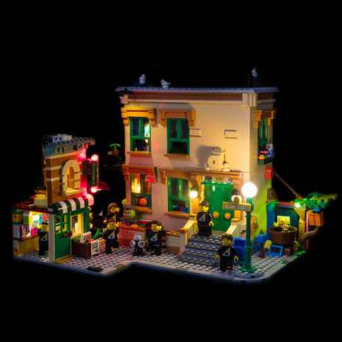 21324 - 123 Sesame Street Lighting Kit - LEGO  Lighting Kit - Elegant Bricks