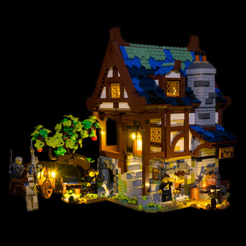 21325 - The Medieval Blacksmith Lighting Kit - Elegant Bricks Limited