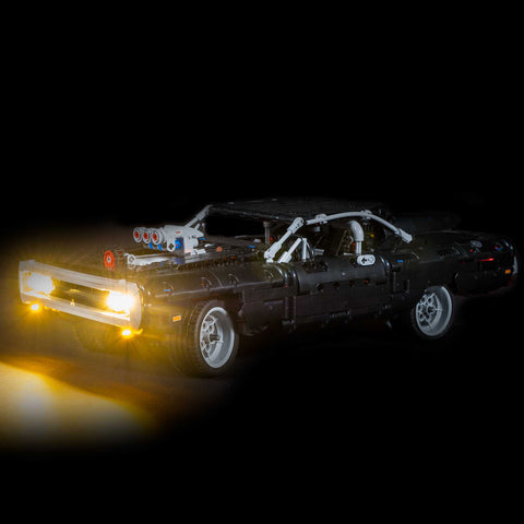 42111 - Dom's Dodge Charger Lighting Kit - LEGO  Lighting Kit - Elegant Bricks