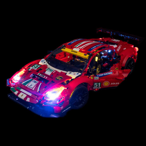 42125 - Ferrari 488 GTE Lighting Kit - Elegant Bricks Limited