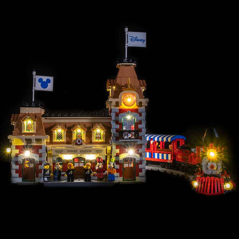 71044 - The Disney Train Station Lighting Kit - LEGO  Lighting Kit - Elegant Bricks