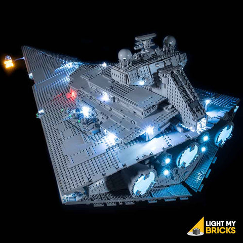 75252 - UCS Imperial Star Destroyer Lighting Kit - LEGO  Lighting Kit - Elegant Bricks