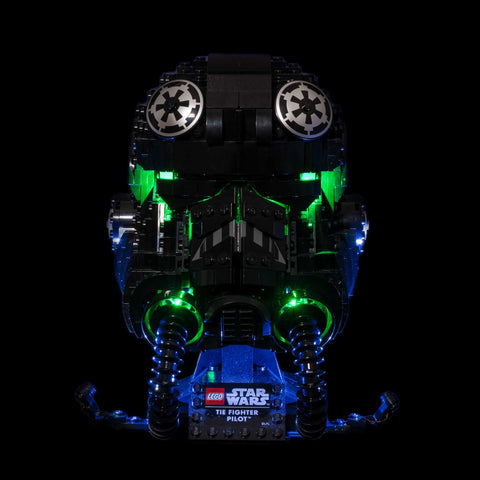 75274 - Tie Fighter Pilot Helmet Lighting Kit - Elegant Bricks Limited