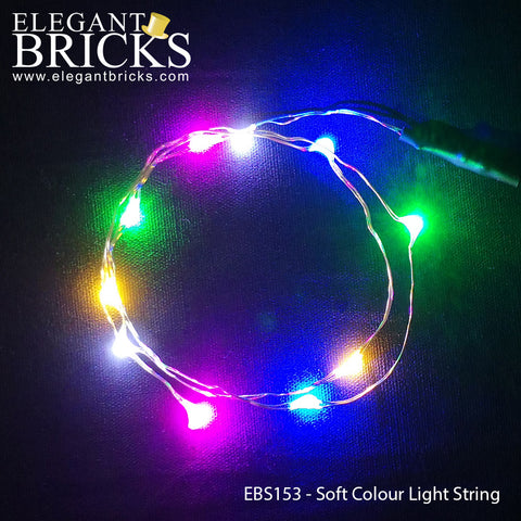 EBS153 - String Lights in Soft Colours - LEGO  Components - Elegant Bricks