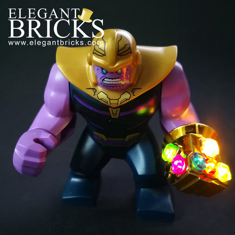 Infinity Gauntlet with Light-up Stones - LEGO  Components - Elegant Bricks